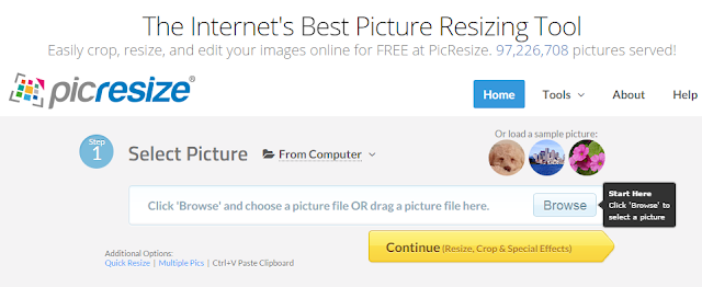online photo resizer