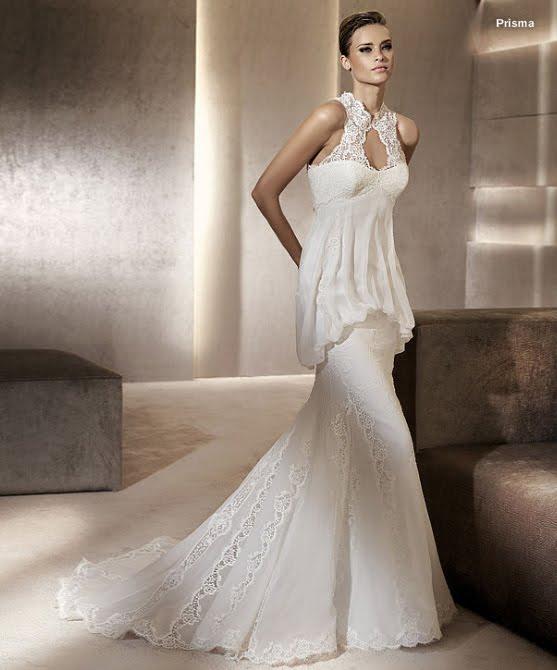todo sobre bodas: vestido de novia prisma pronovias 2012 manuel mota
