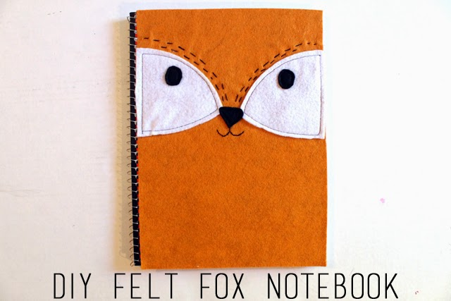 Felt Book Cover Diy ~ Punk projects diy felt fox notebook cover