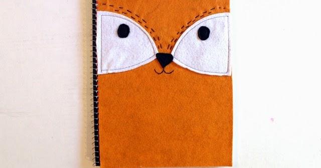 DIY Felt Fox Notebook Cover
