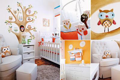 quarto de bebê enfeitado com bichinhos