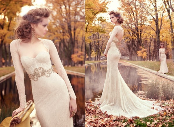 here can find their dream wedding dresses by lazaro for spring 2015