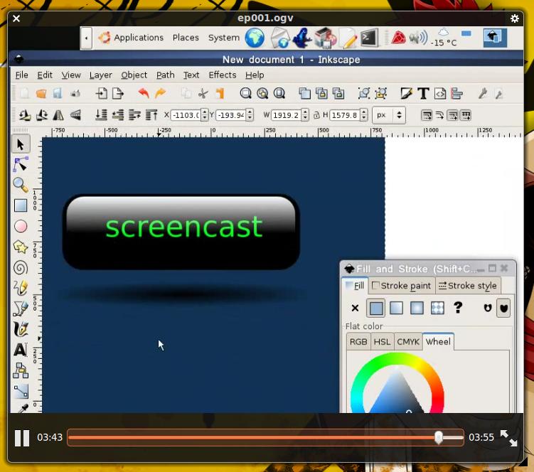 Salah satu video tutorial mengenai Inkscape