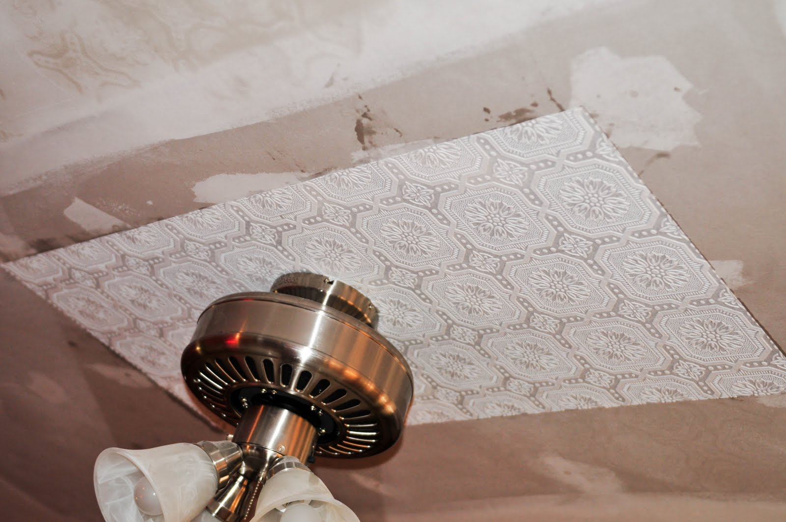 My old country home faux tin tile ceiling reveal dailygadgetfo Images