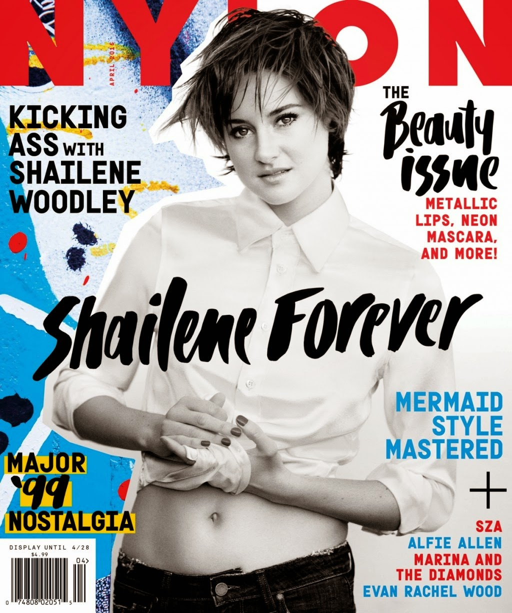 Actress @ Shailene Woodley - Nylon Magazine, April 2015