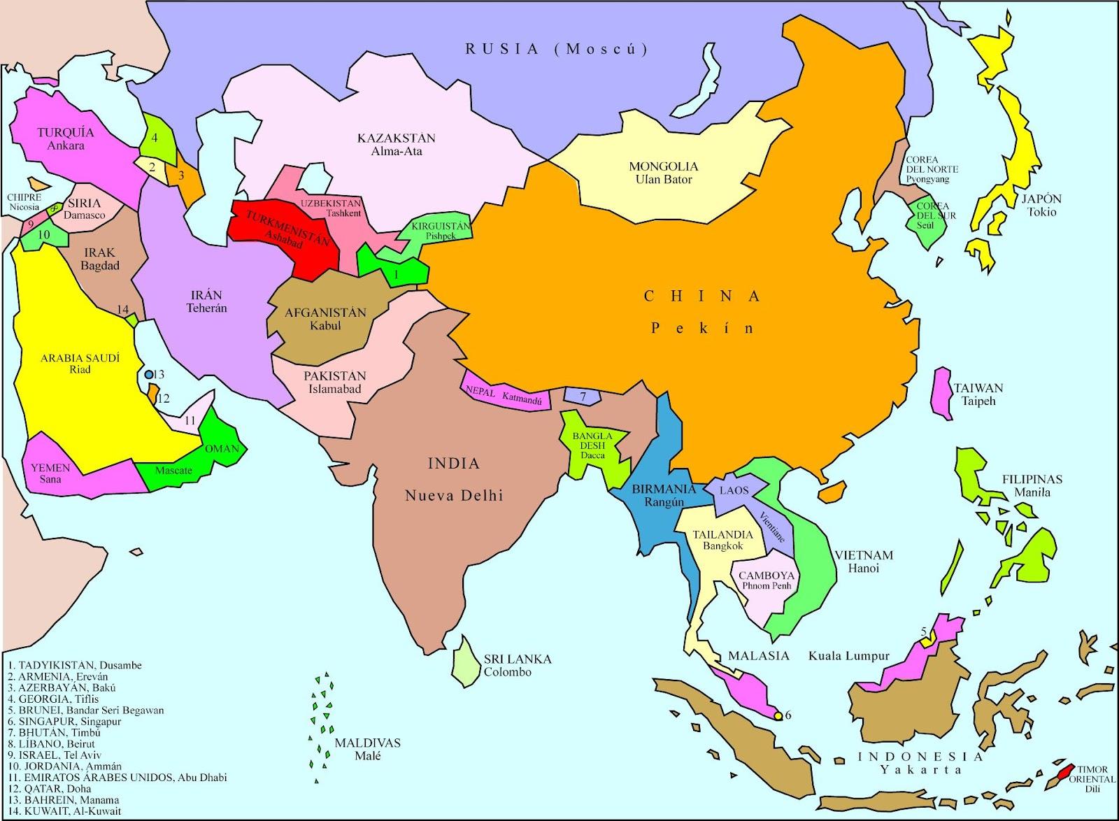 Continentes del planeta