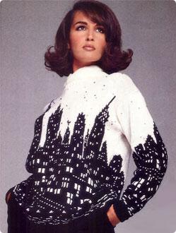 Sweter w Nowy York  z darmowym wzorem