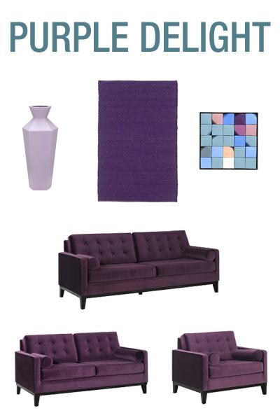Purple Delight Furniture & Decor Round Up