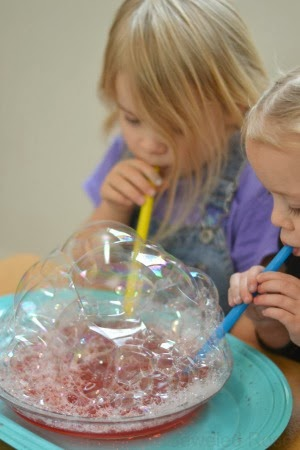 Kool-aid Bubbles Recipe- my kids played four hours!