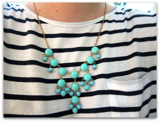 Statement Necklace Turquoise Baubles