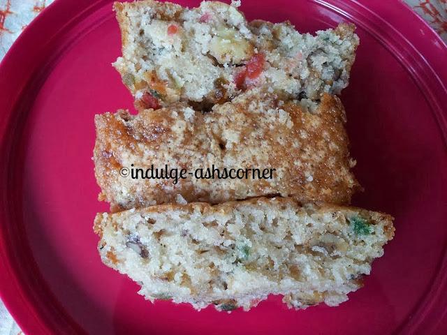 Cardamom Walnut tuti fruti cake