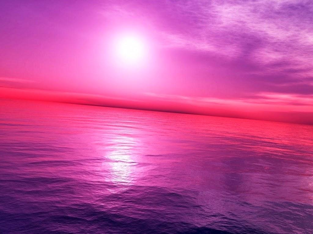 beautiful pink world sun time wallpaper