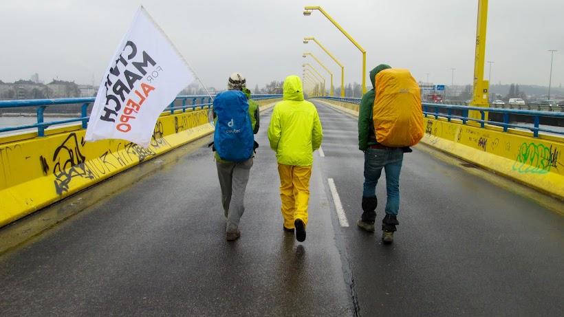 March entering Vienna