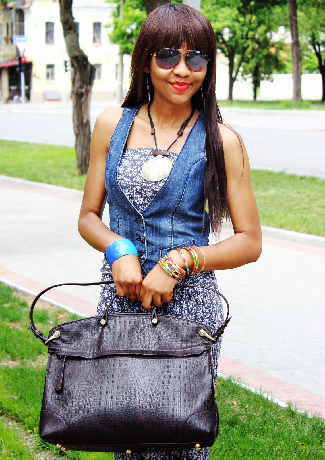 female fashion denim waist coat