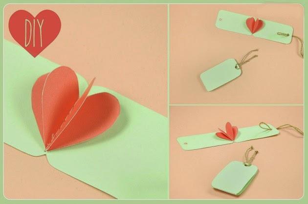 Manualidades para san valentin bonita y sencilla tarjeta - Manualidades para hacer tarjetas ...