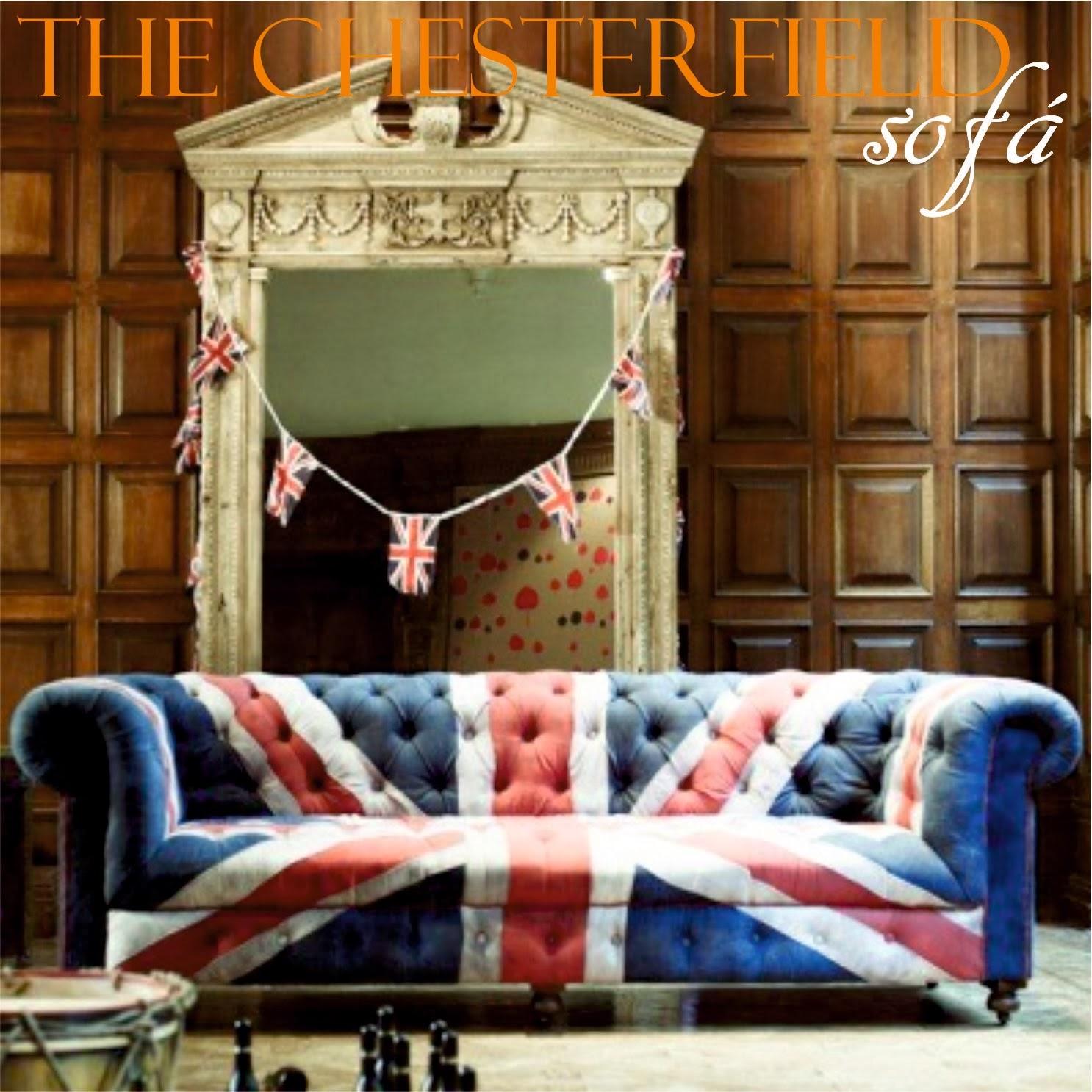 Sofa Chester con un tapizado muy British.