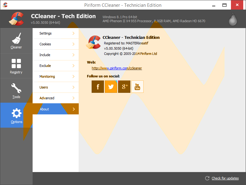 CCleaner v5.00 Technician Edition