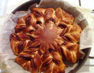 Pan brioche alla Nutella a forma di stella