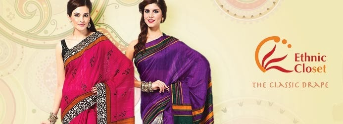 Ethnic saree with fashion blouse