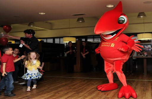 Here's Liverpool's new mascot people, a thing they're calling Mighty Red