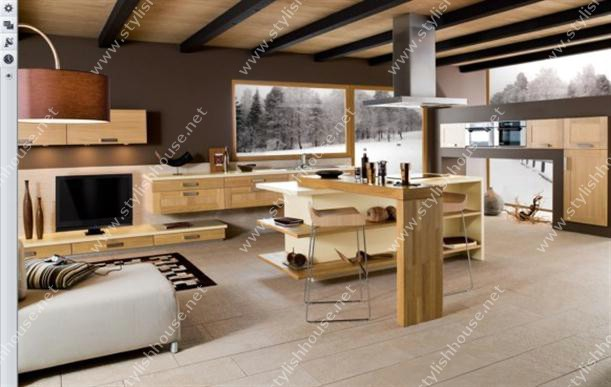 Very comfortable Contemporary French Style Kitchen Designs for stylishly houses