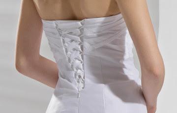 Blanc Robe de mariée en taffetas