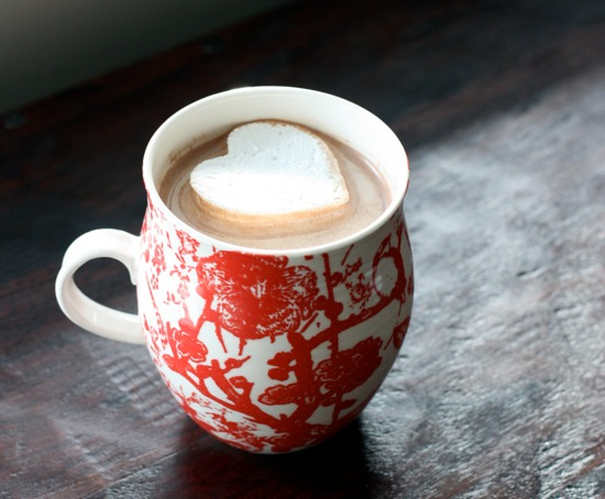 hot chocolate heart marshmallow