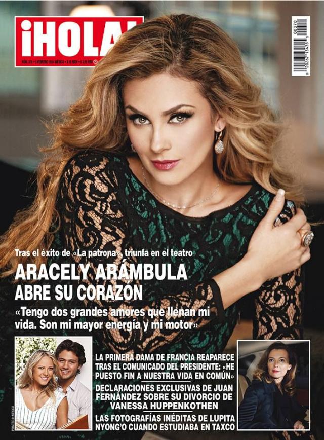 Aracely Arámbula en la revista Hola!