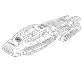 #18 Battlestar Galactica Coloring Page