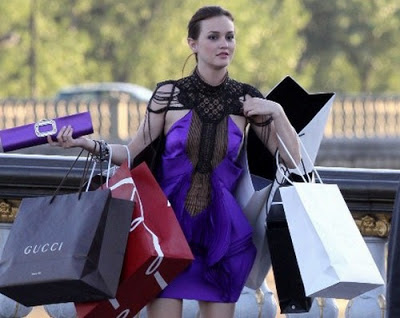 Blair Waldorf post shopping