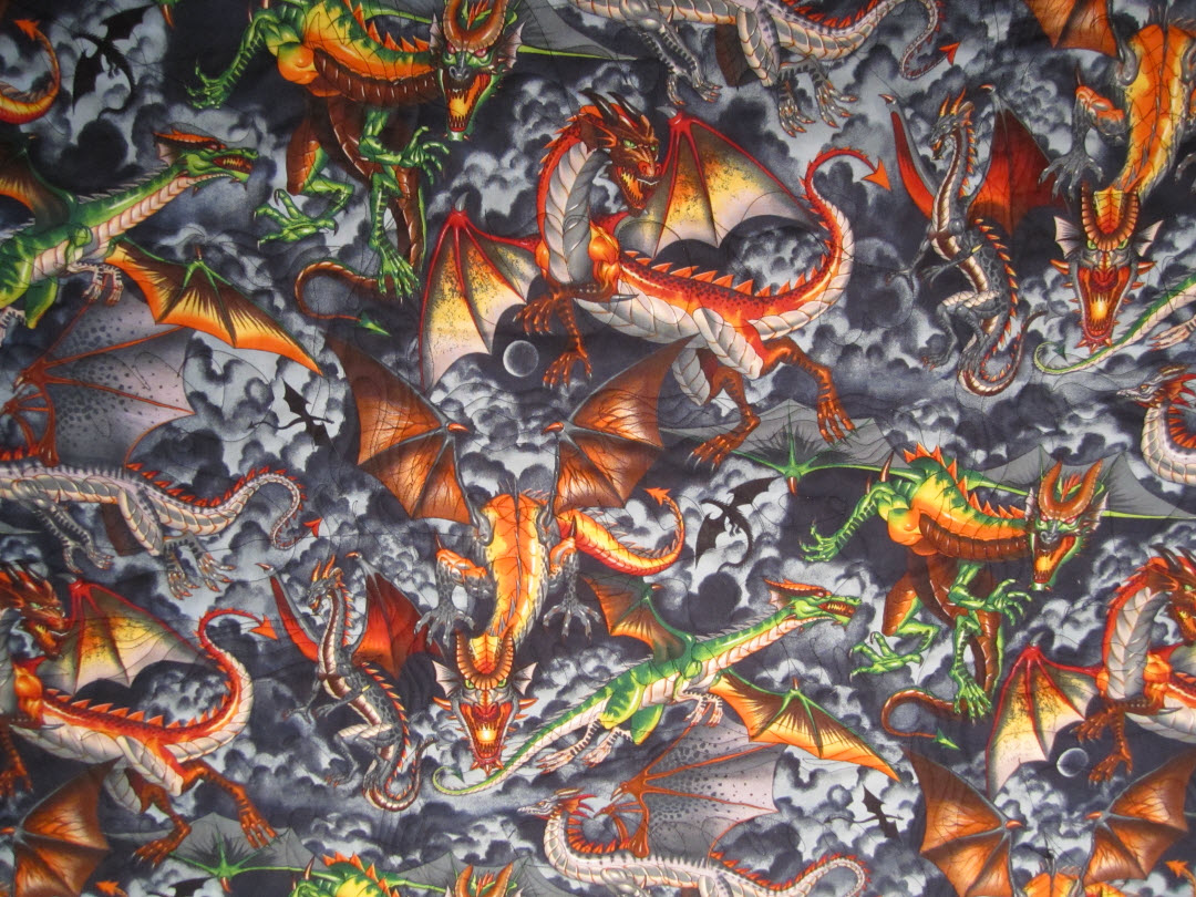 Aunti Nicole's Corner: T-shirt Quilt for Hubby! : dragon fabric for quilting - Adamdwight.com