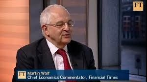 Economic great Martin  Wolf was on TV