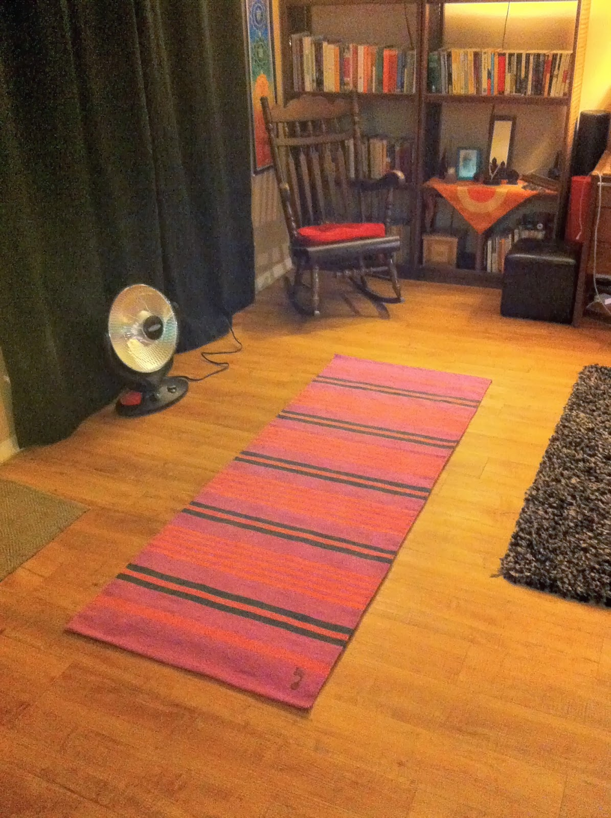 A Mysore Practice Rug In Its Natural Environment