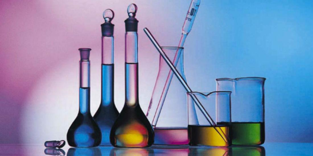 Material de laboratório de química