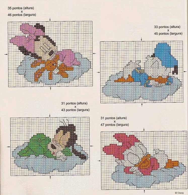 Favorito Hobby lavori femminili - ricamo - uncinetto - maglia: Schemi Bimbi  OV97