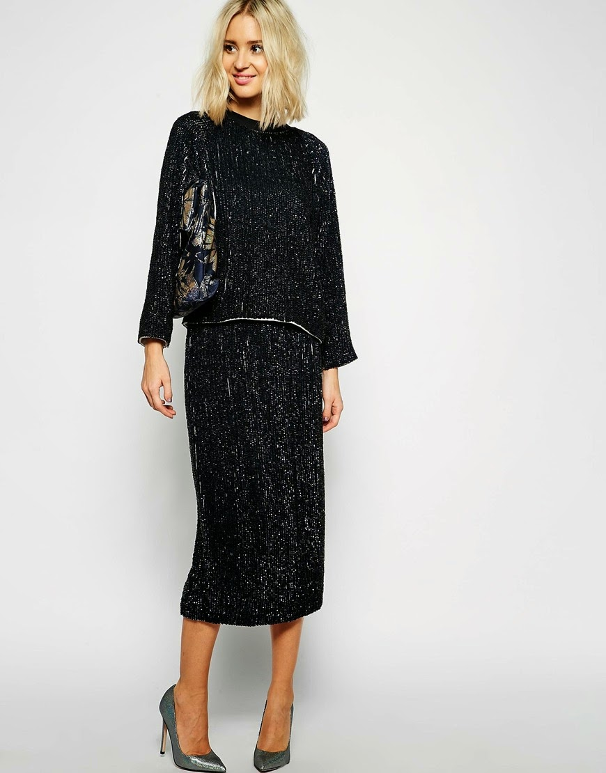 jumper with matching midi skirt