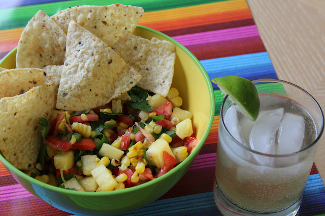 grilled corn and pineapple salsa