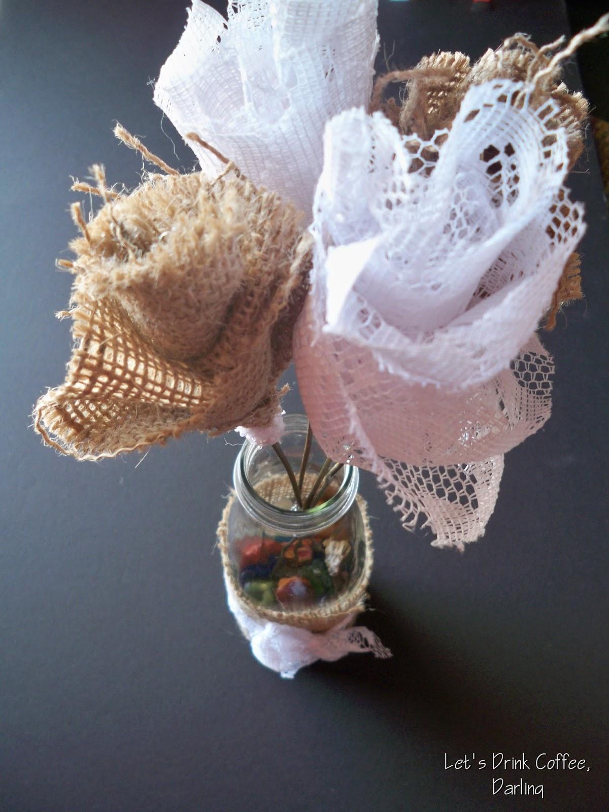 Lets drink coffee darling wedding decoration details flowers vases ribbon flowers izmirmasajfo