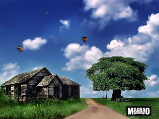 composição-de-imagem-photoshop-paisagem-balanço-moto-cabana-estrada-natureza