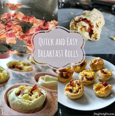 Quick and easy breakfast rolls