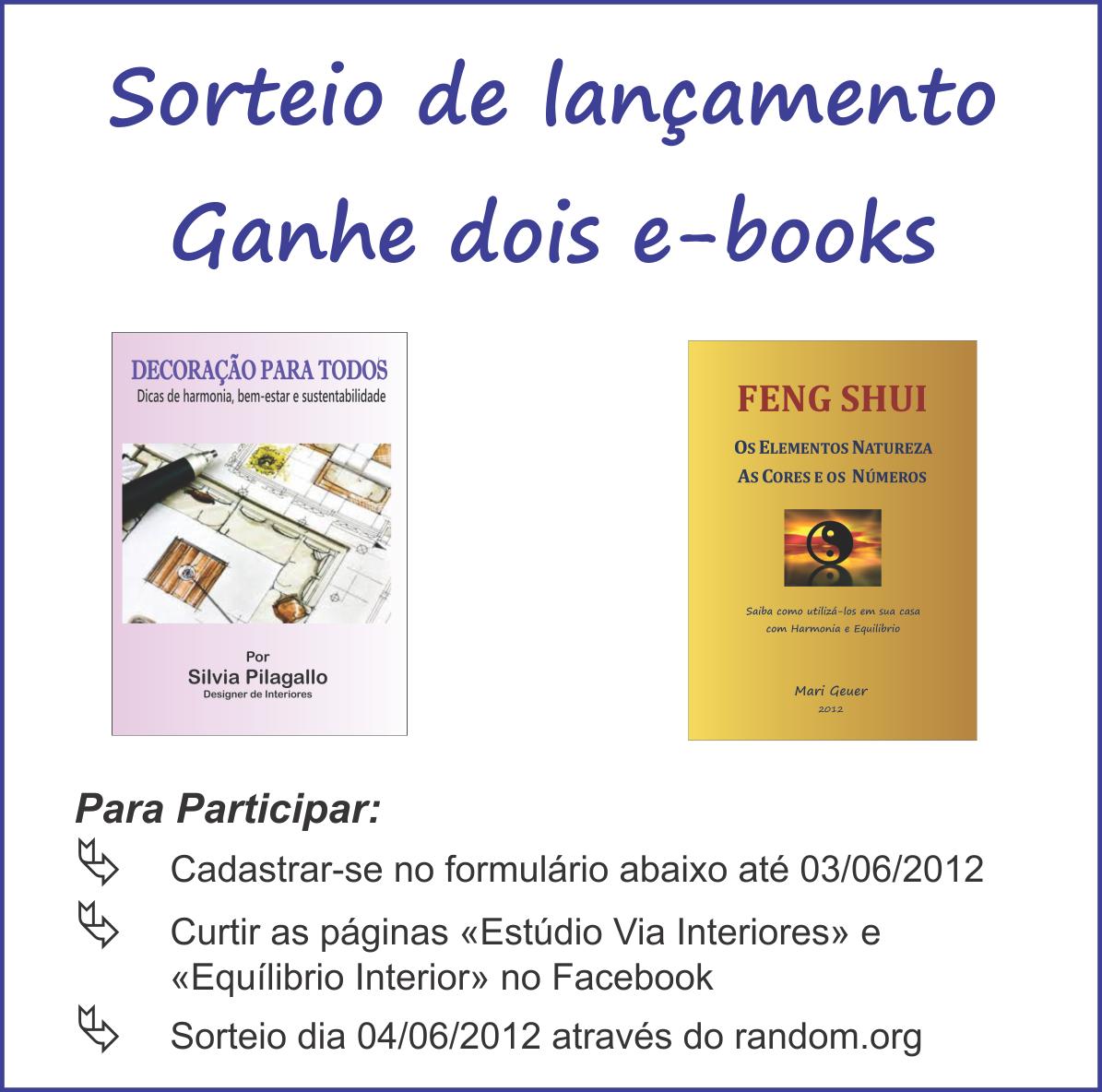 Sorteio ebooks decora o para todos e feng shui casa for Feng shui para todos
