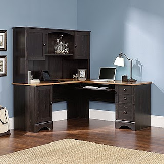 L desks reviews l shaped desk with hutch - Cheap black desks ...