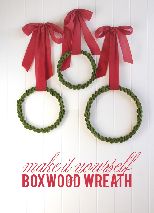 Boxwood Wreath from Wool Felt