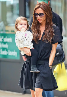 victoria with her cute baby