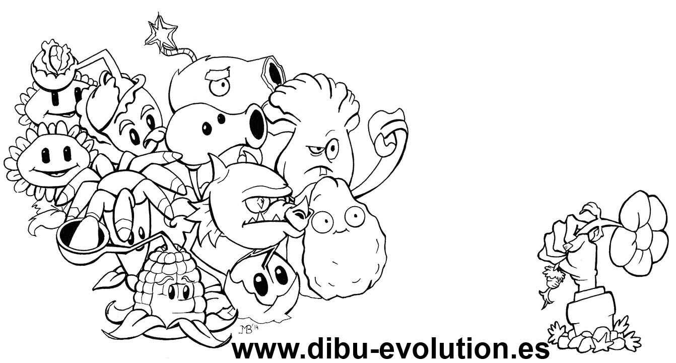 dibu-evolution: Plantas vs Zombies para colorear