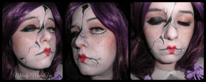 MAquillaje muñeca rota halloween