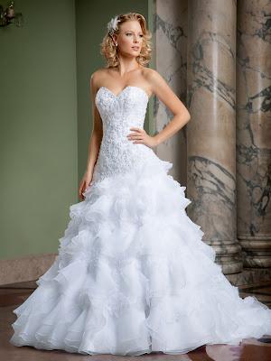 vestido de noiva de camadas fotos