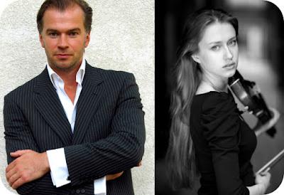dirijorul Gints Glinka si violonista Kristine Balanas din Letonia