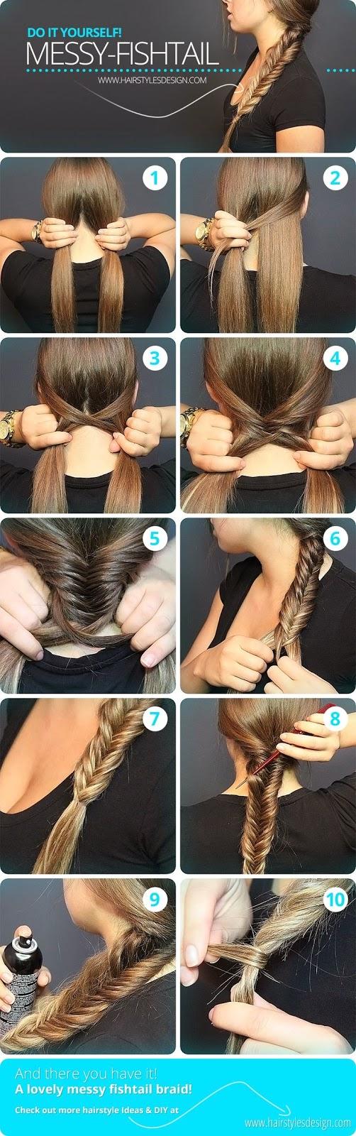 Messay Fishtail Hair Style Diy..