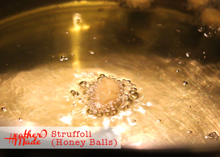 honey balls. struffoli. recipe. heatheromade.